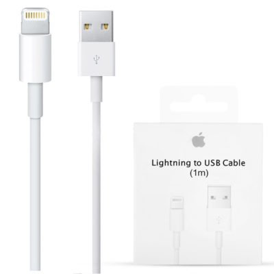 Кабель Apple Lightning USB (белый)